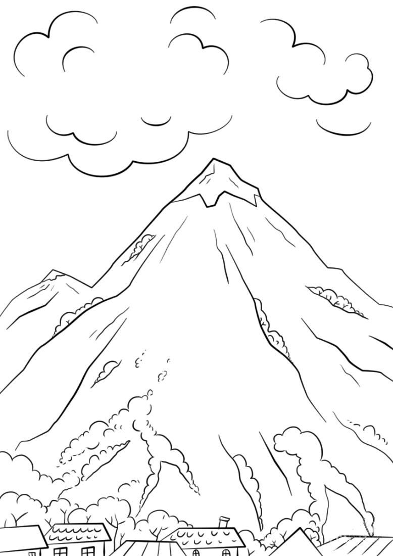 mountain coloring pages print - photo#1