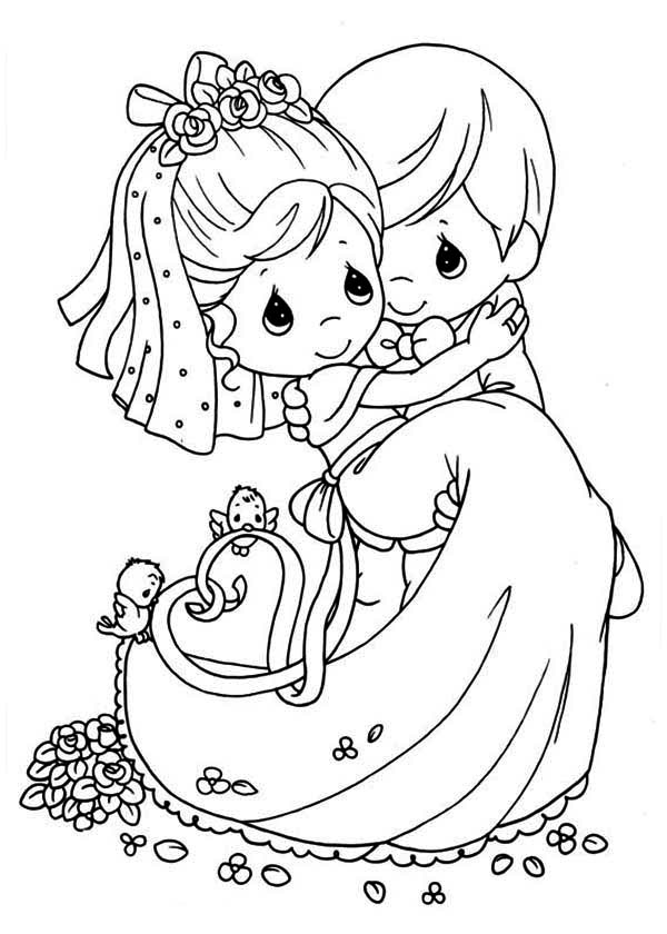 Precious Wedding Coloring Pages