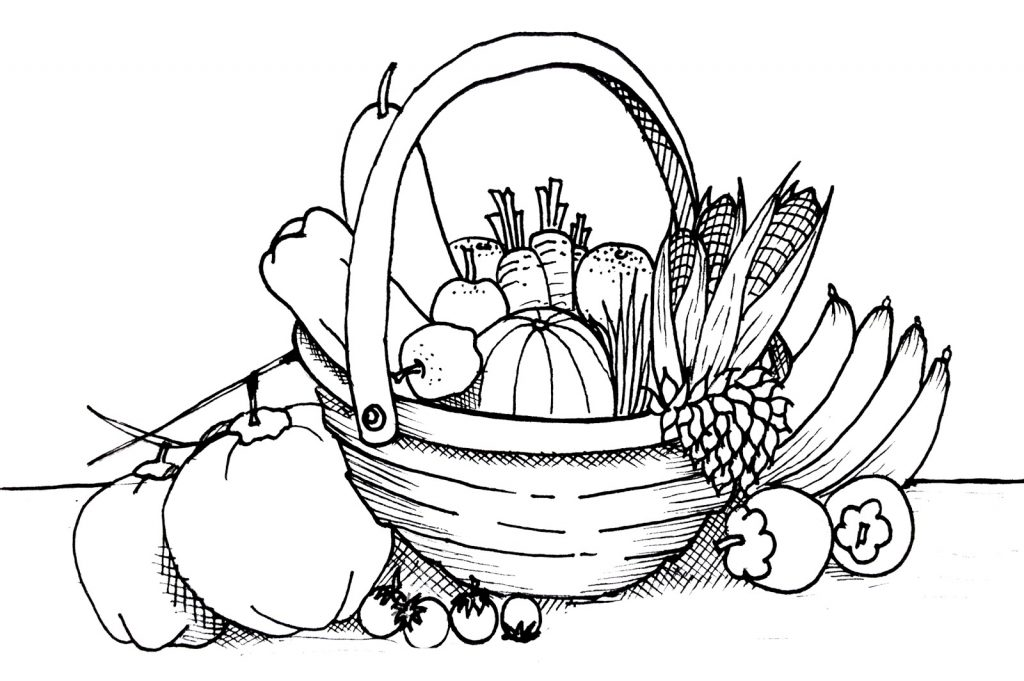 Print Free Vegetable Coloring Pages
