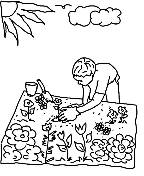 Raised Gardening Coloring Pages