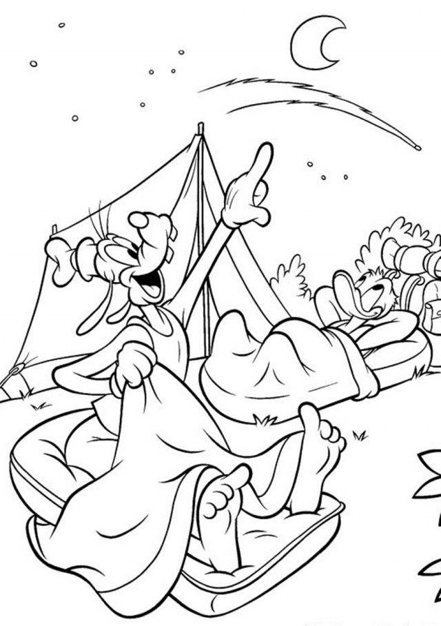Sleeping under the Stars Coloring Page