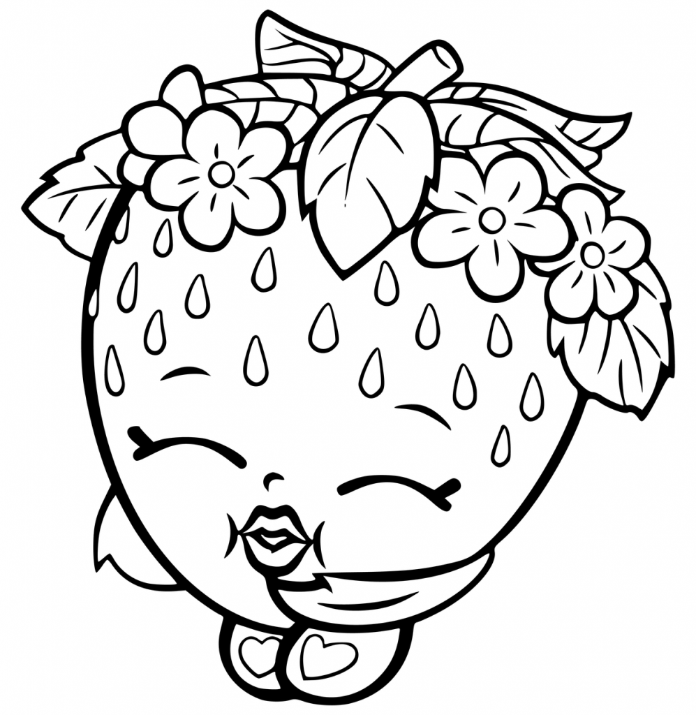 Strawberry Shoppies Coloring Pages