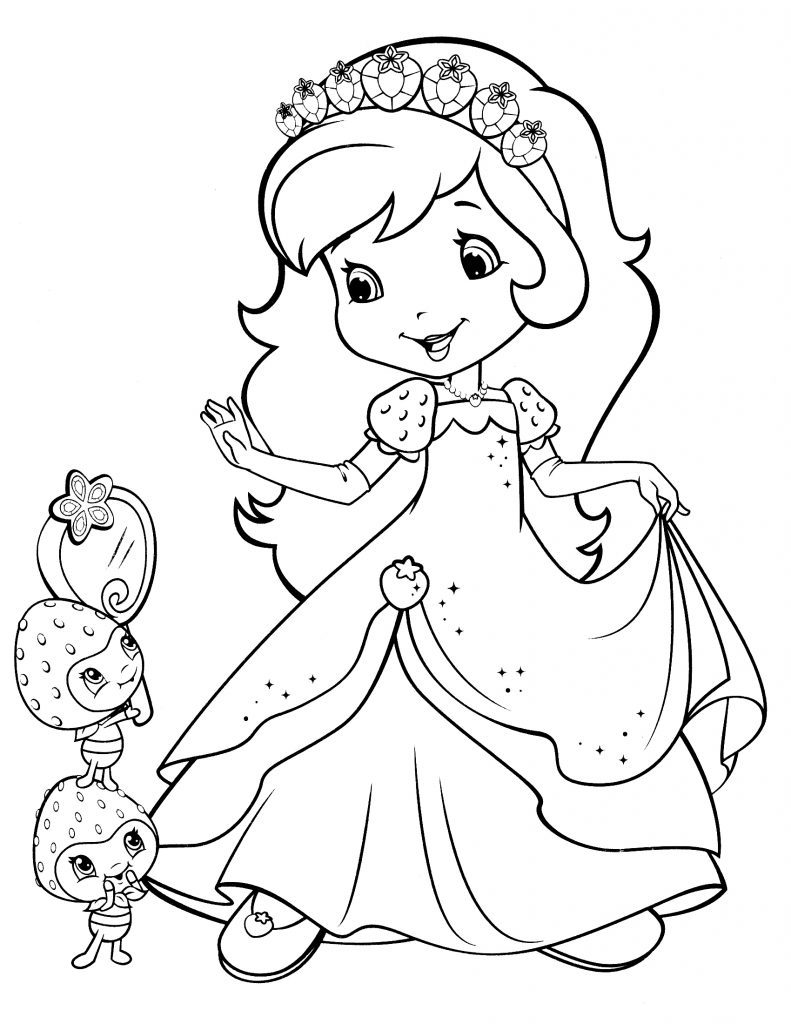 Strawberry Shortcake Dress Coloring Pages