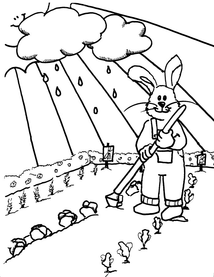 Tend the Garden Coloring Pages
