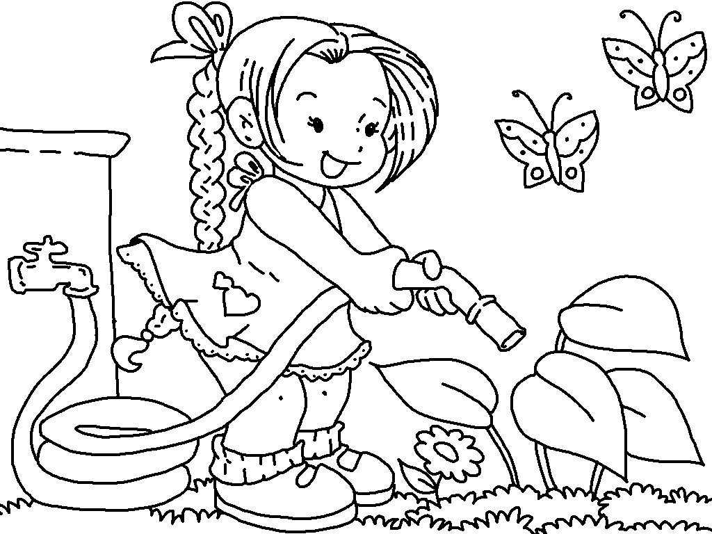 Water Garden Coloring Pages