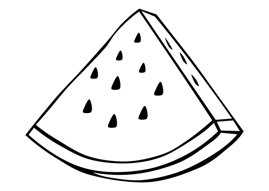 Watermelon Slice Coloring Pages
