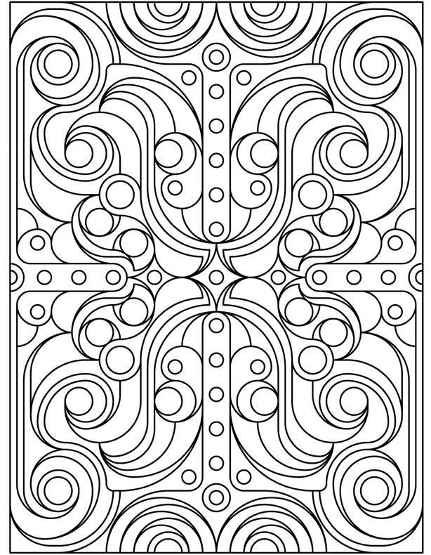 Adult and Teen Pattern Coloring Pages
