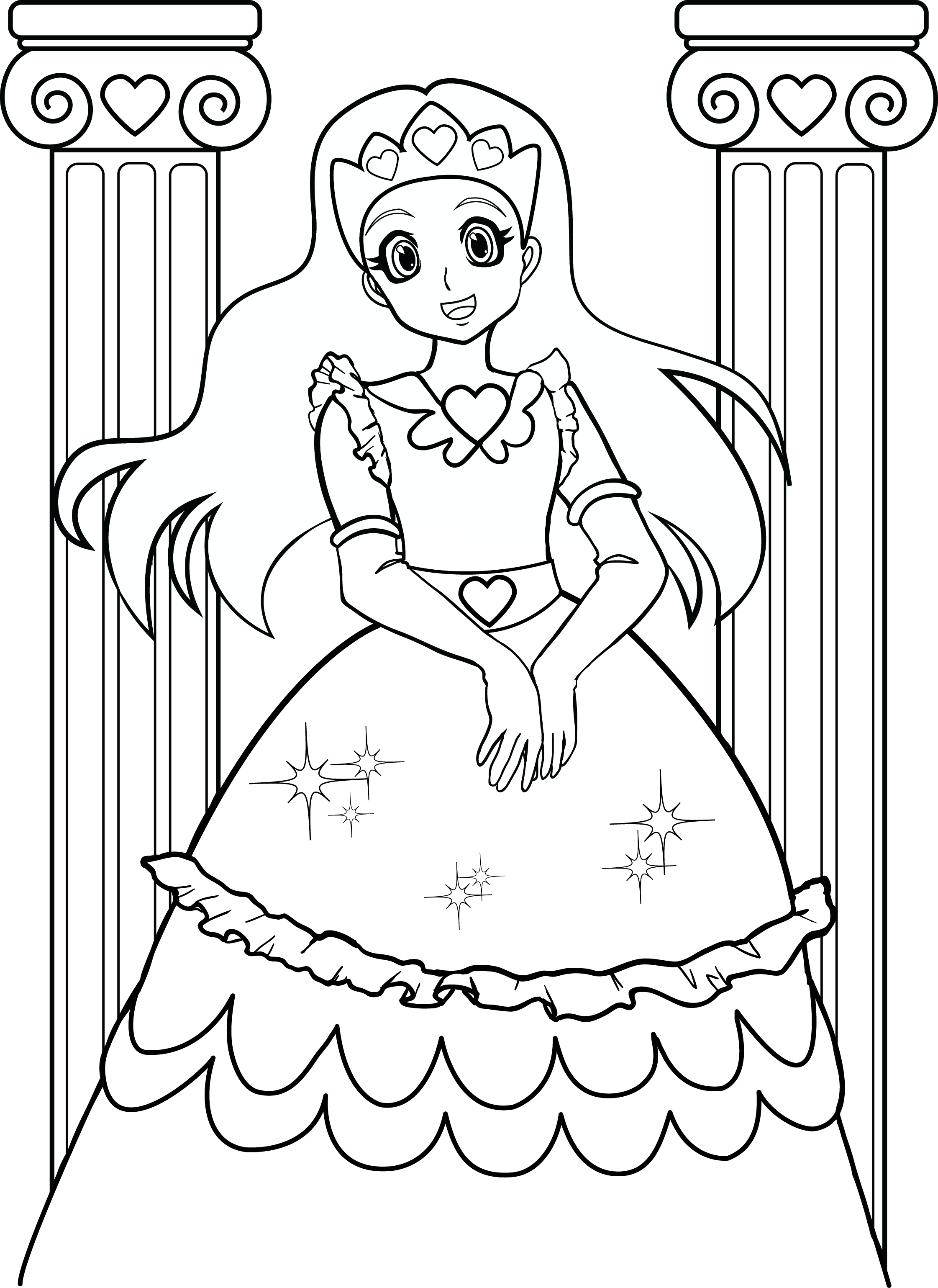 Cartoon Coloring Pages For Girls