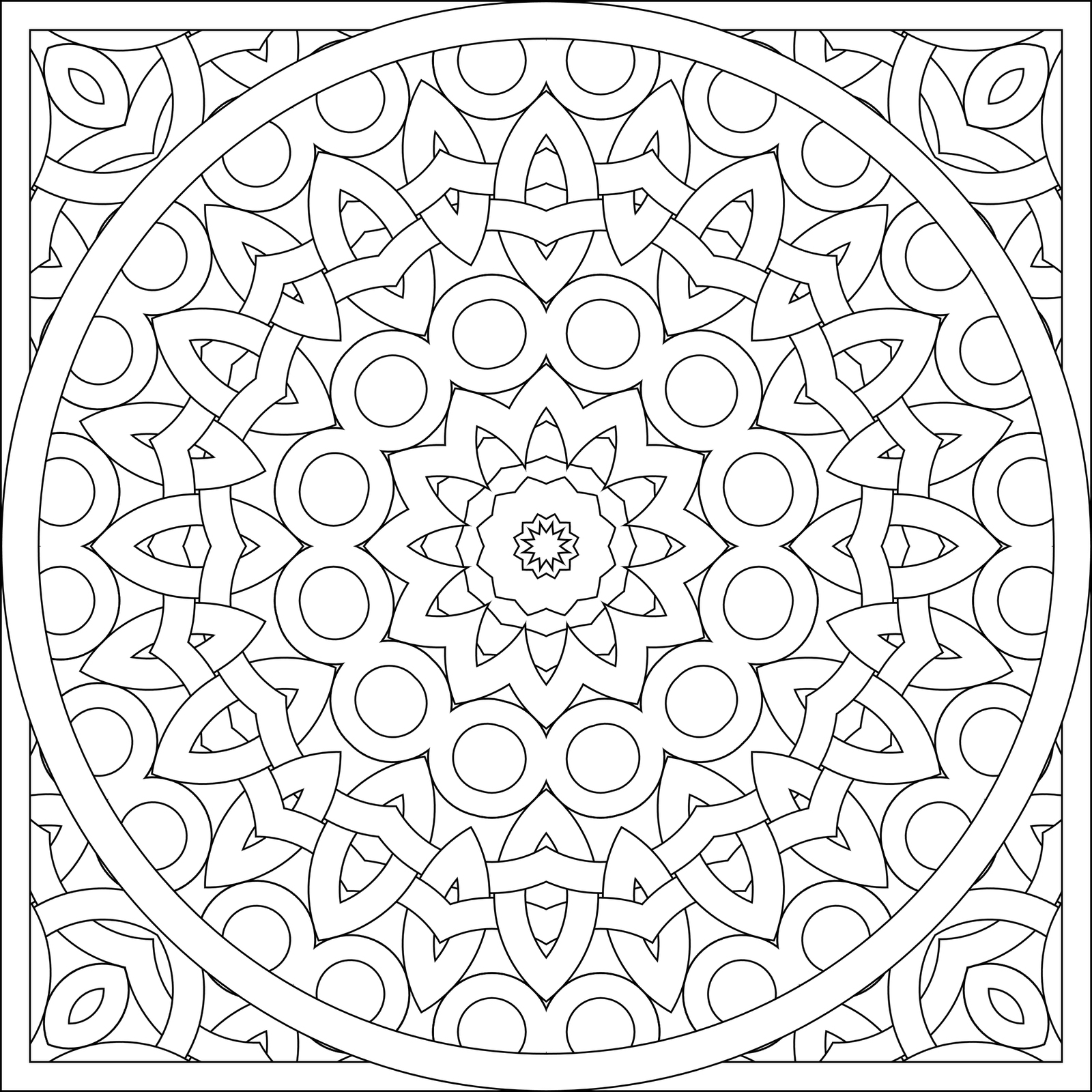 Pattern coloring pages best coloring pages for kids for Circle pattern coloring pages