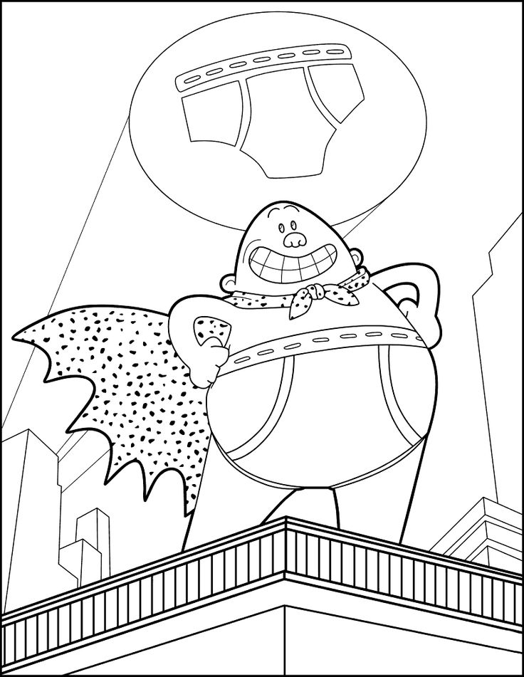 Captain Underpants Coloring Pages | Captain underpants, Coloring ... | 951x736