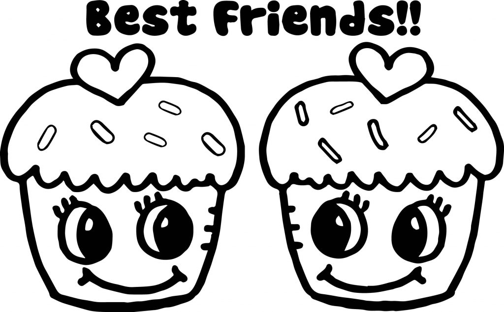 Cute Best Friends Coloring Pages