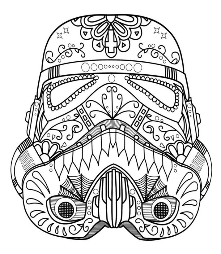 Darth Vader Sugar Skull Coloring Pages