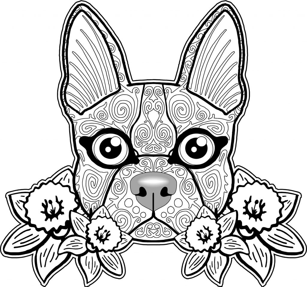 Dog Sugar Skull Coloring Pages