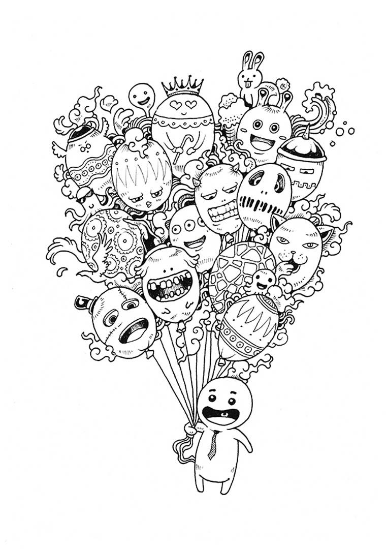 - Doodle Coloring Pages - Best Coloring Pages For Kids
