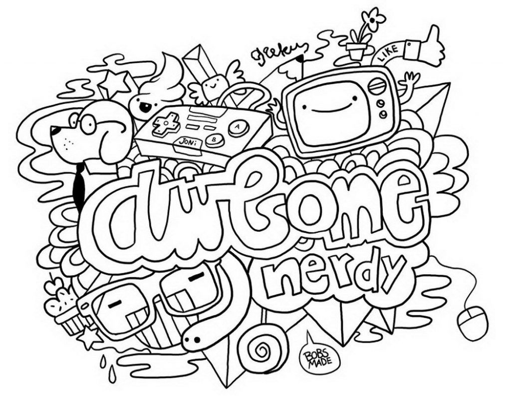 Doodle Coloring Pages for Teens