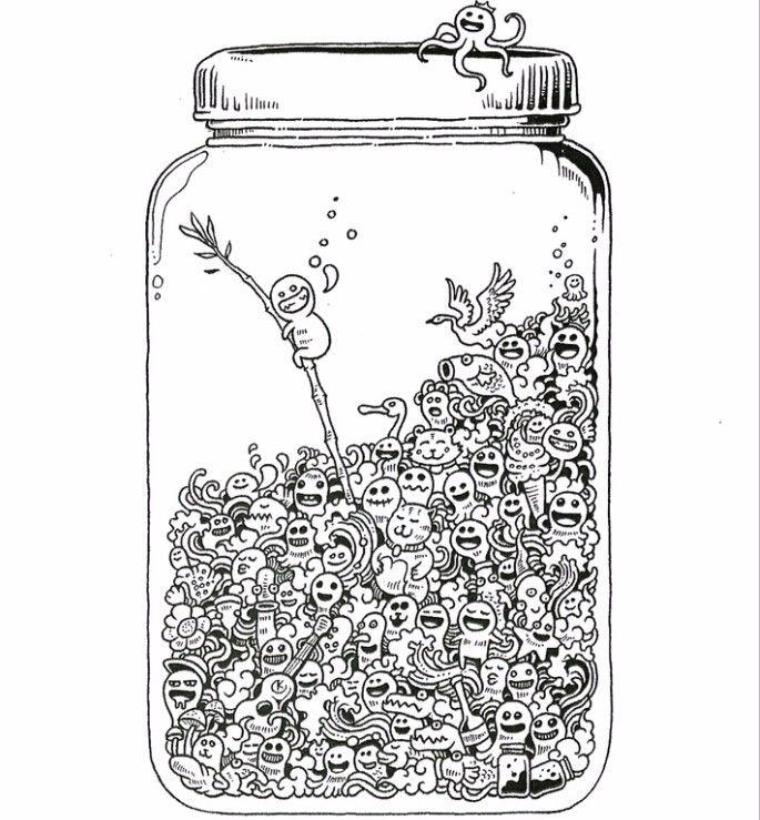 Doodle Jar Coloring Page