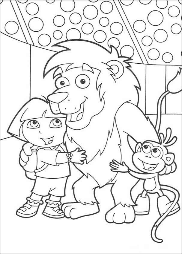Dora Best Friends Coloring Page