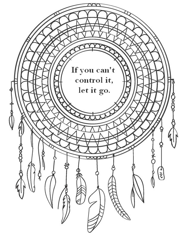 DreamCatcher Quote Coloring Page