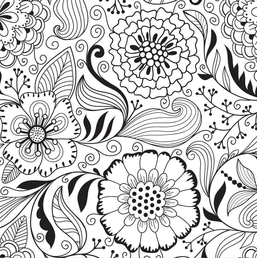 Floral Pattern Coloring Pages