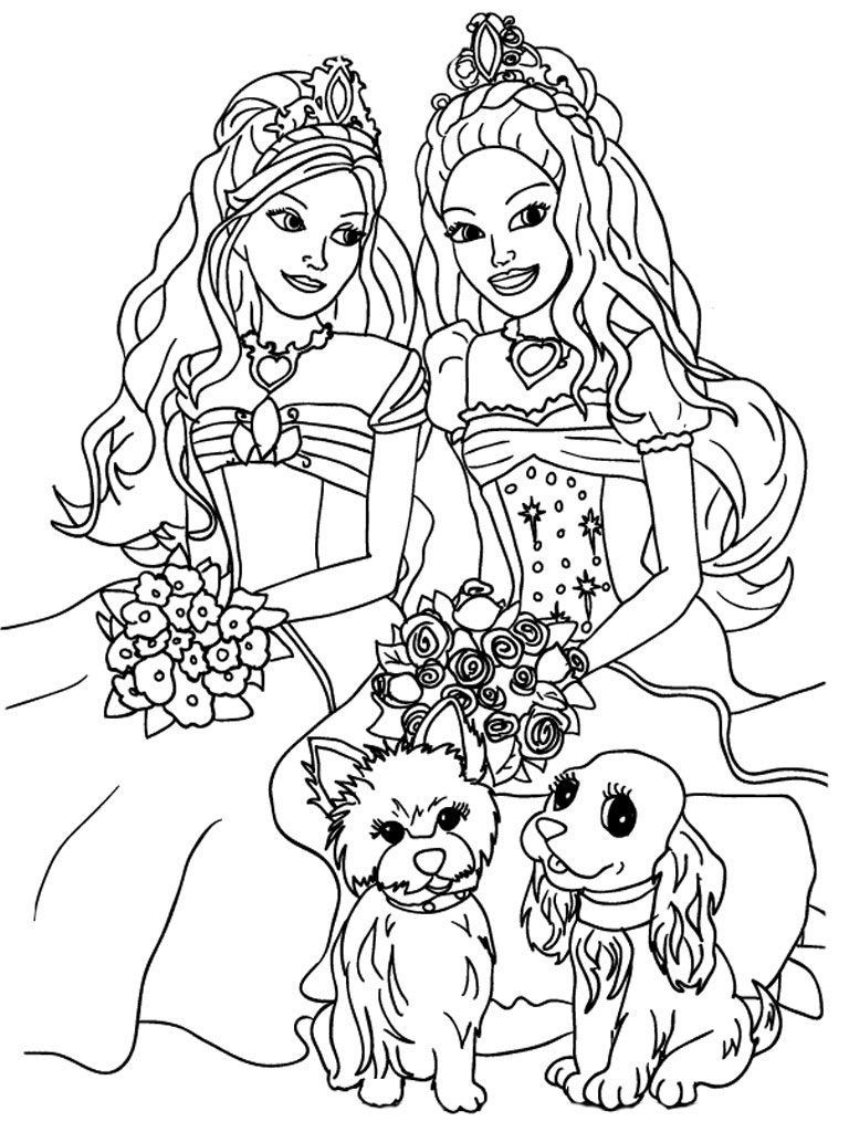 Free Barbie Coloring Pages for Girls