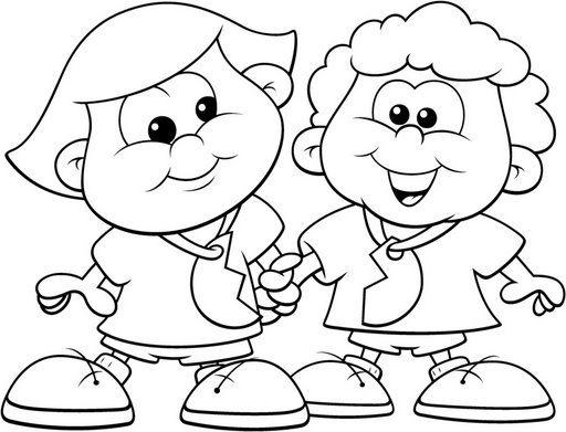Free Best Friends Coloring Pages