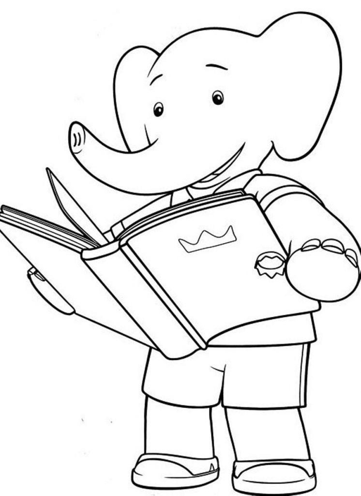 Free Books Coloring Pages