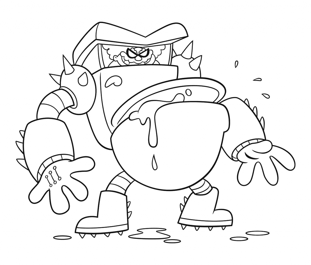 Free Captain Underpants Coloring Page