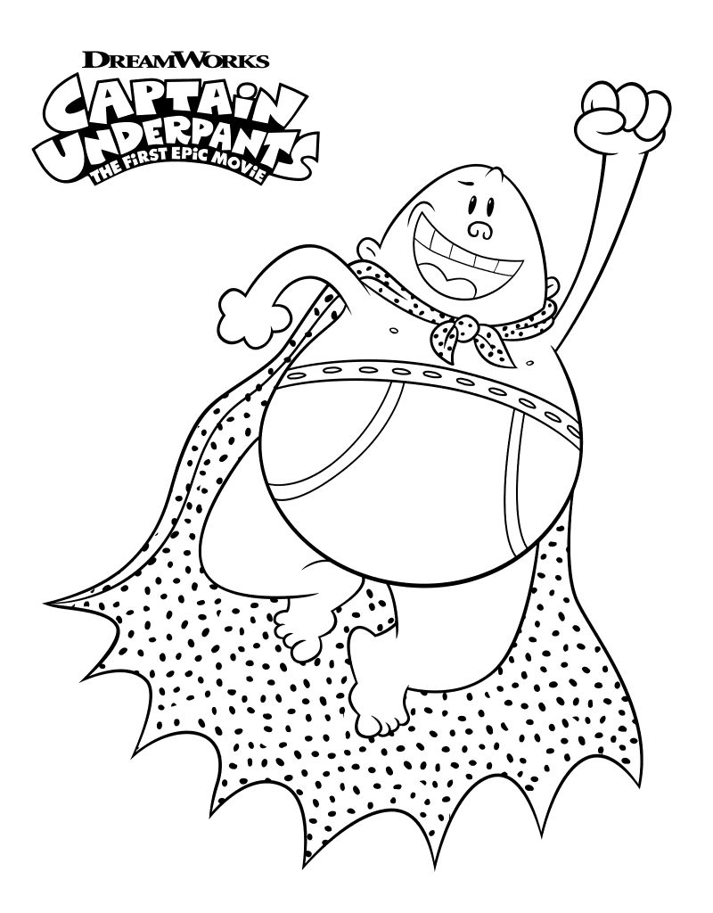 Free Captain Underpants Coloring Pages
