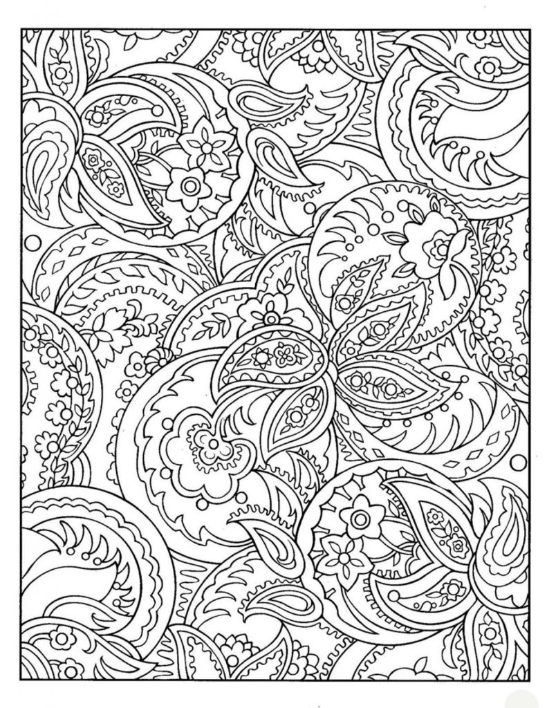 Free Complex Pattern Coloring Pages