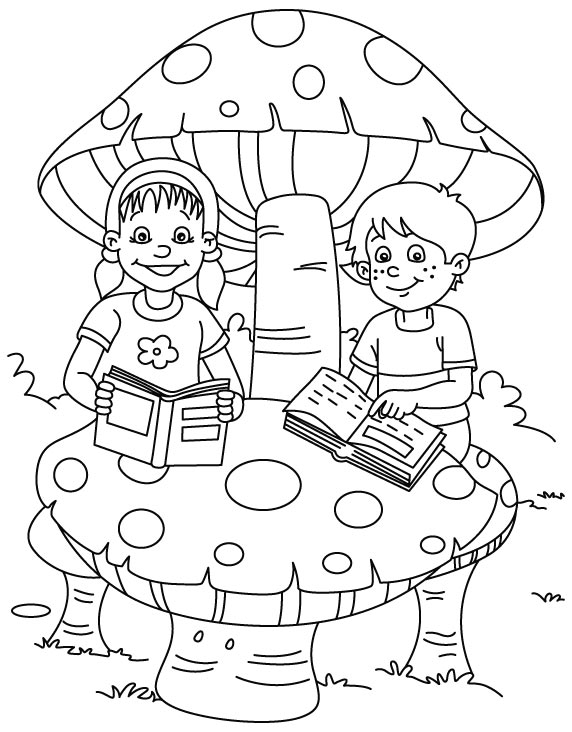 Free Printable Books Coloring Pages