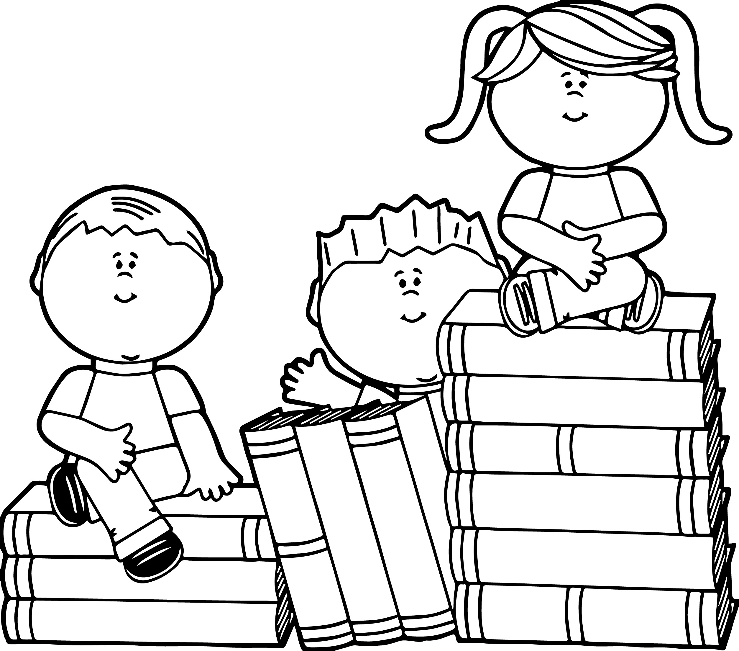 book coloring pages - photo#5