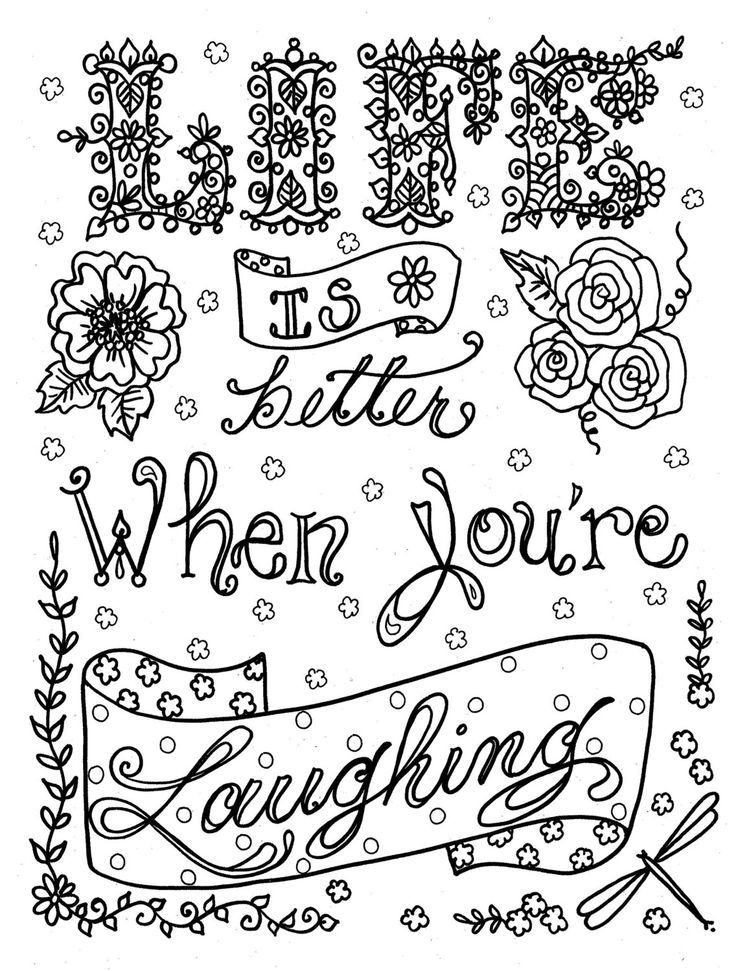 - Quote Coloring Pages For Adults And Teens - Best Coloring Pages For Kids