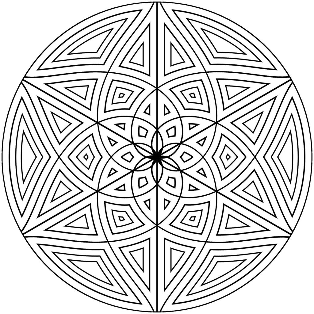 Mandala Pattern Coloring Pages