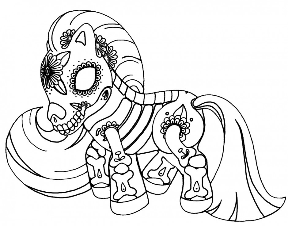 My Little Pony Sugar Skull Coloring Pages