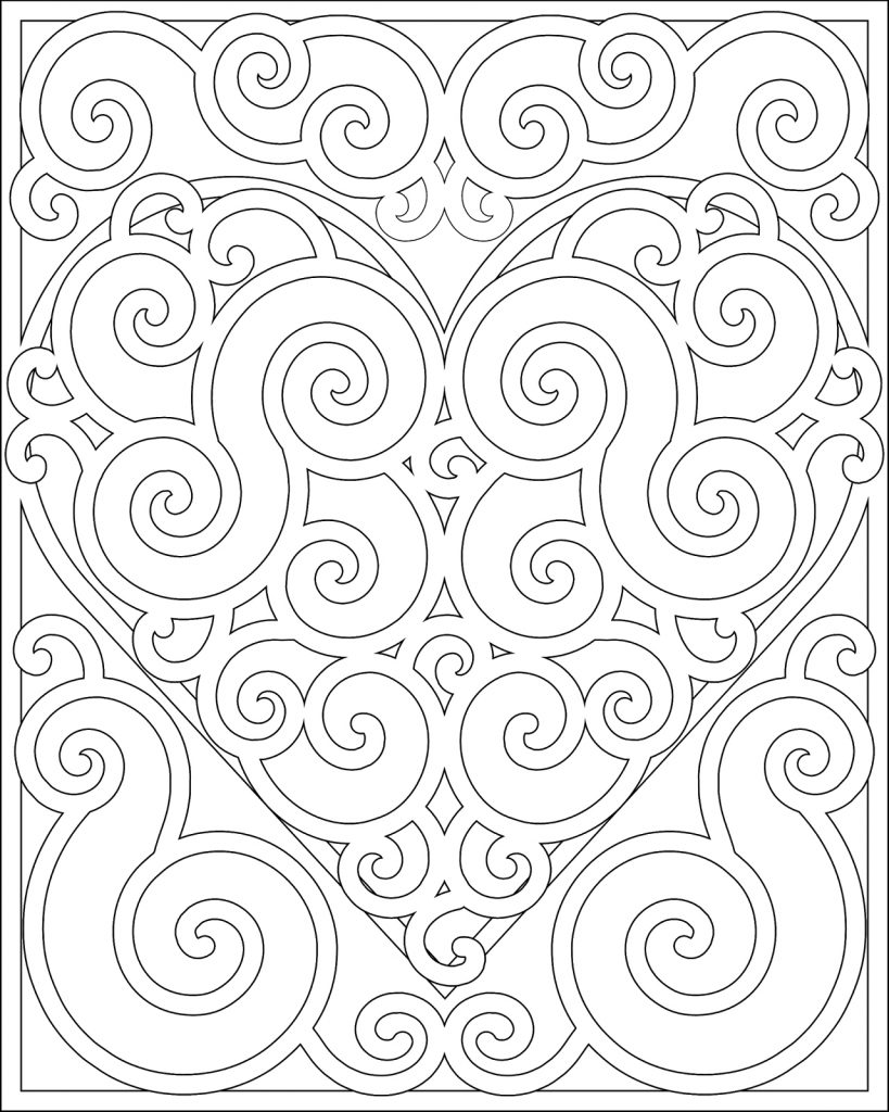 Pattern Coloring Pages for Adults and Teens