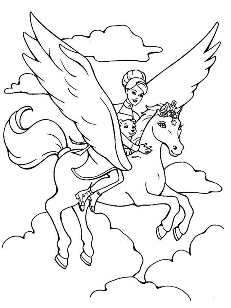 Pegasus Coloring Pages for Girls