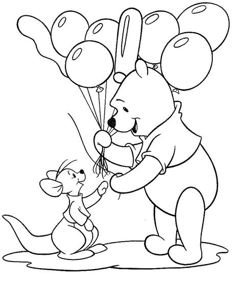 Pooh and Roo Best Friends Coloring Pages