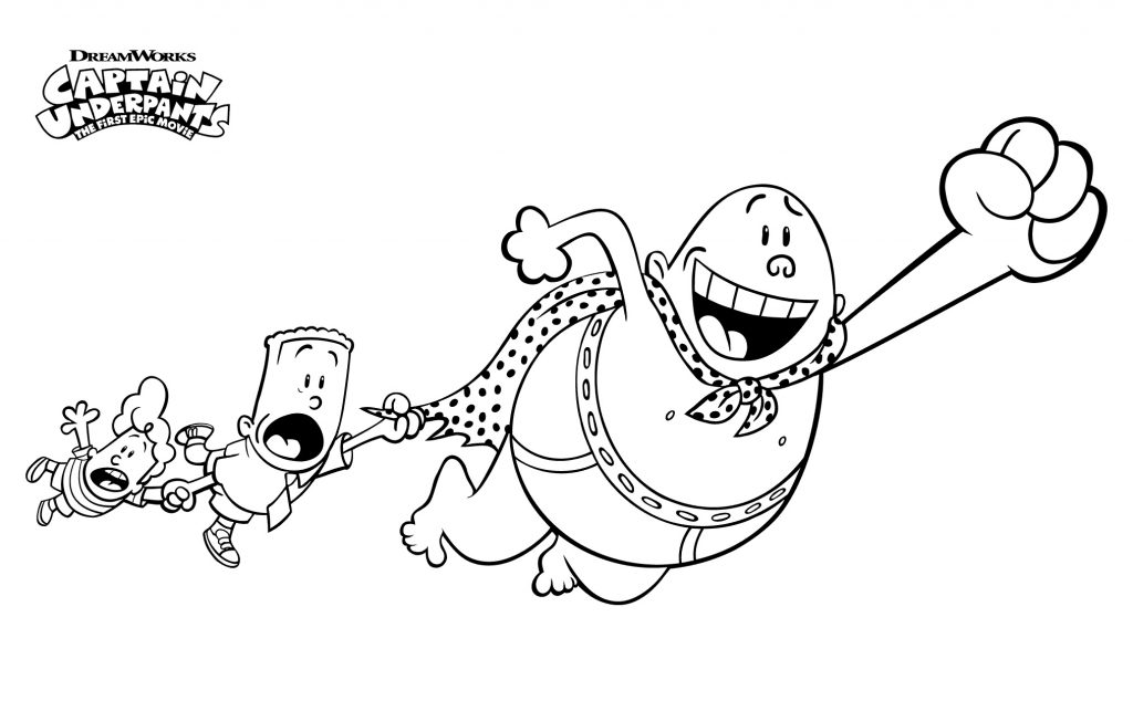 Print Free Captain Underpants Coloring Pages