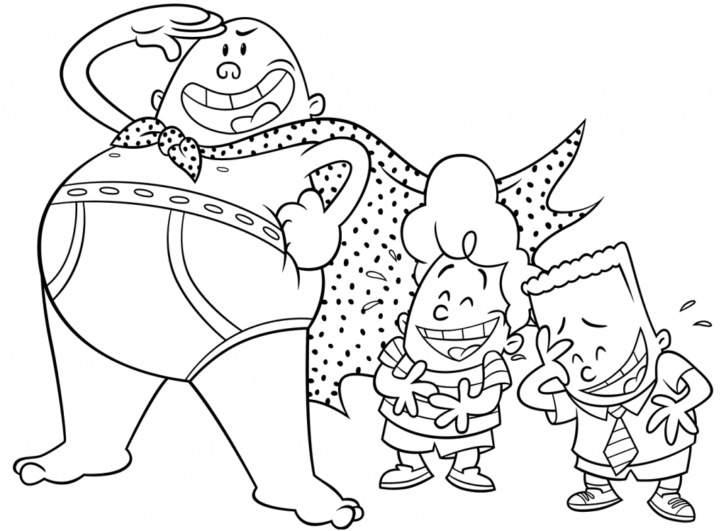 Printable Captain Underpants Coloring Pages