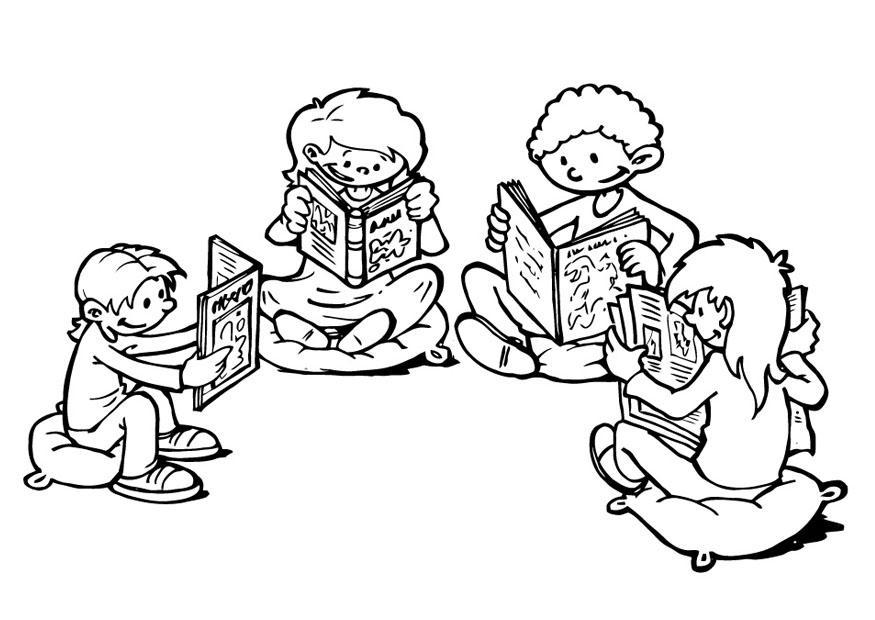 Reading Circle Coloring Page
