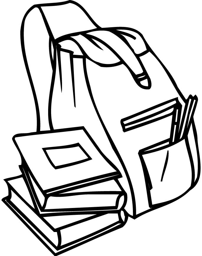School Books Coloring Pages