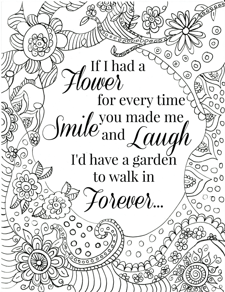 Quote Coloring Pages for Adults and Teens - Best Coloring ...