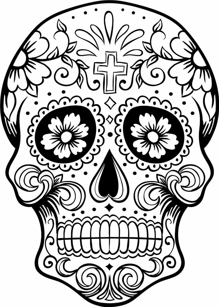 picture regarding Printable Sugar Skulls Coloring Pages named Sugar Skull Coloring Webpages - Most straightforward Coloring Web pages For Little ones