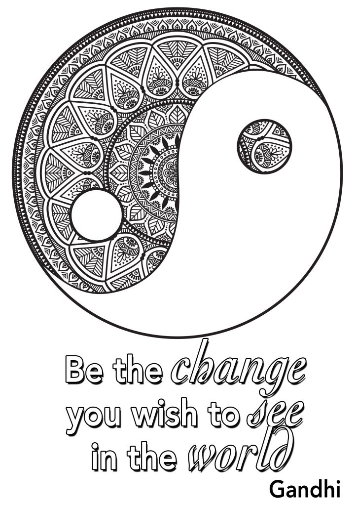 Yin Yang Coloring Pages for Teens