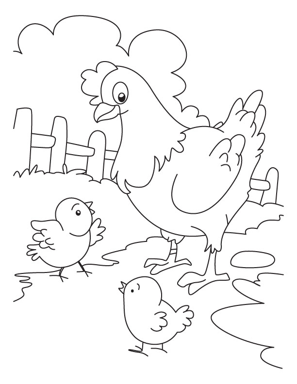 Chicken Coloring Page Printables