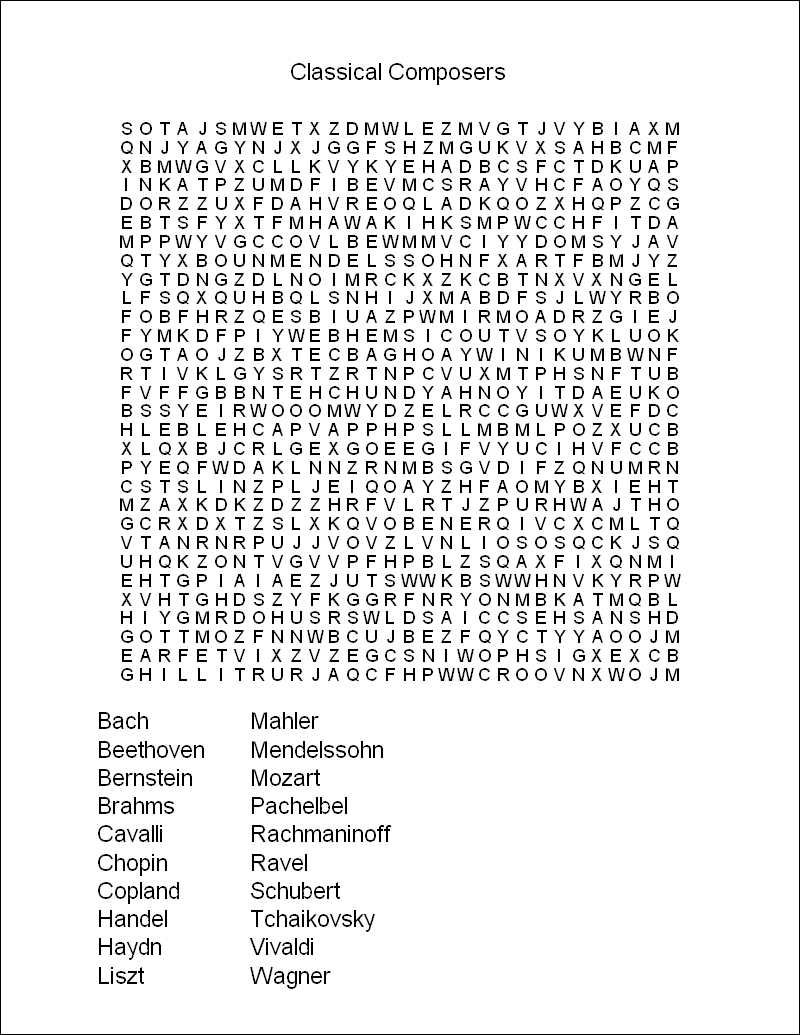 Selective image inside printable wordsearch for adults