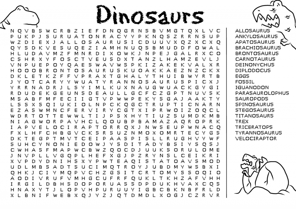 Dinosaurs - Word Search Game