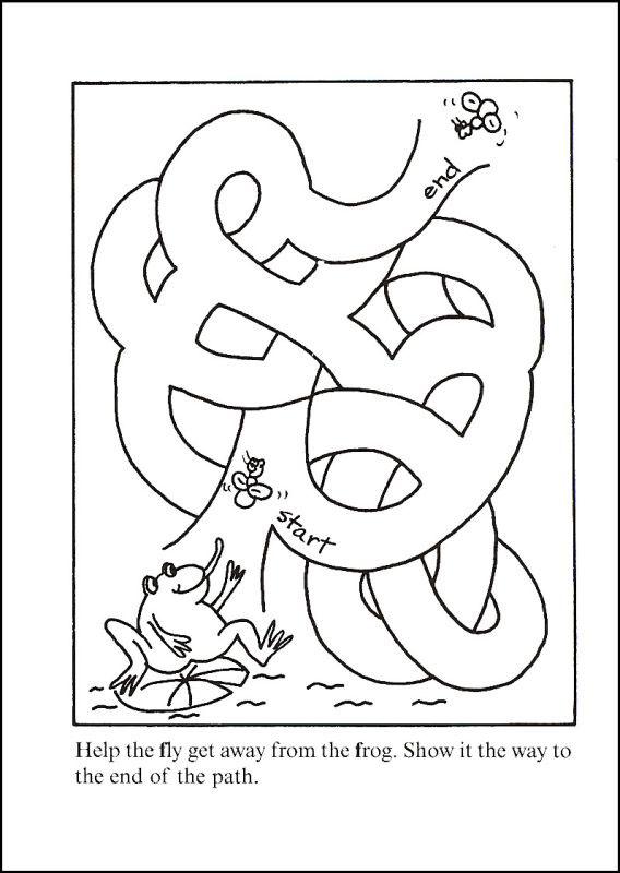 Easy Maze Printable Frog