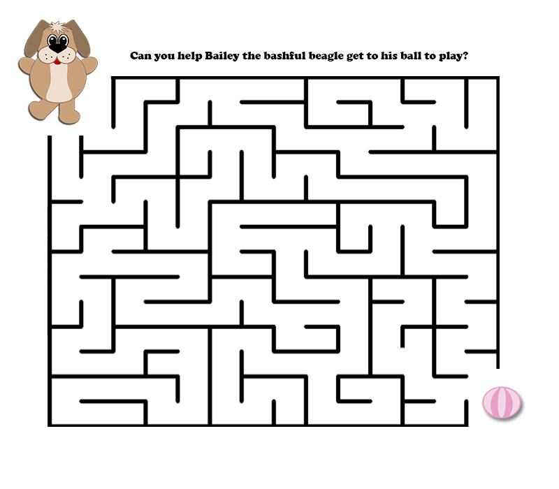 Easy Mazes Printable For Kids