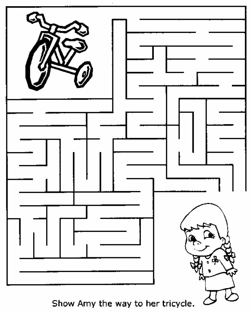 It is a graphic of Handy Printable Mazes for 5 Year Olds